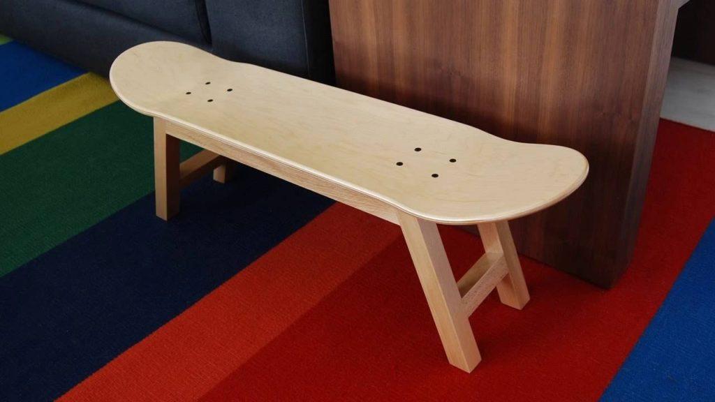 Chair Made of Skateboard Decks