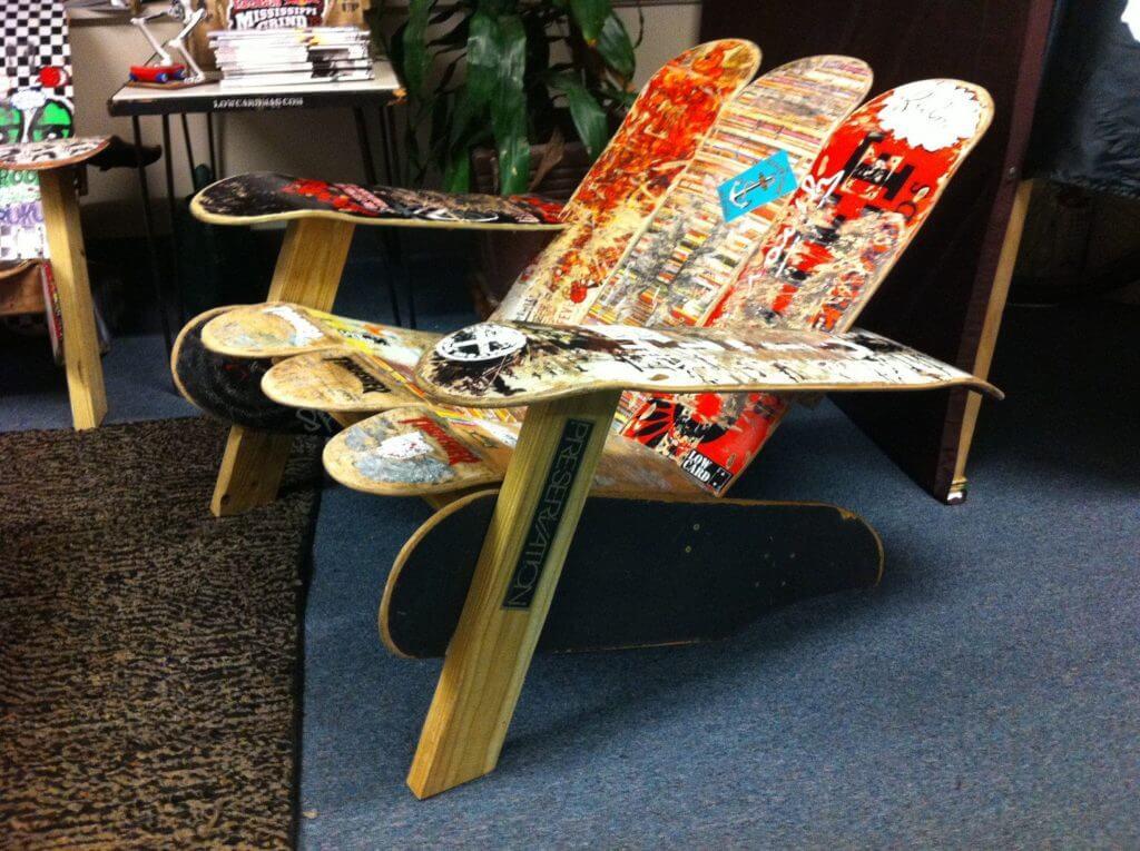DIY Skateboard Furniture